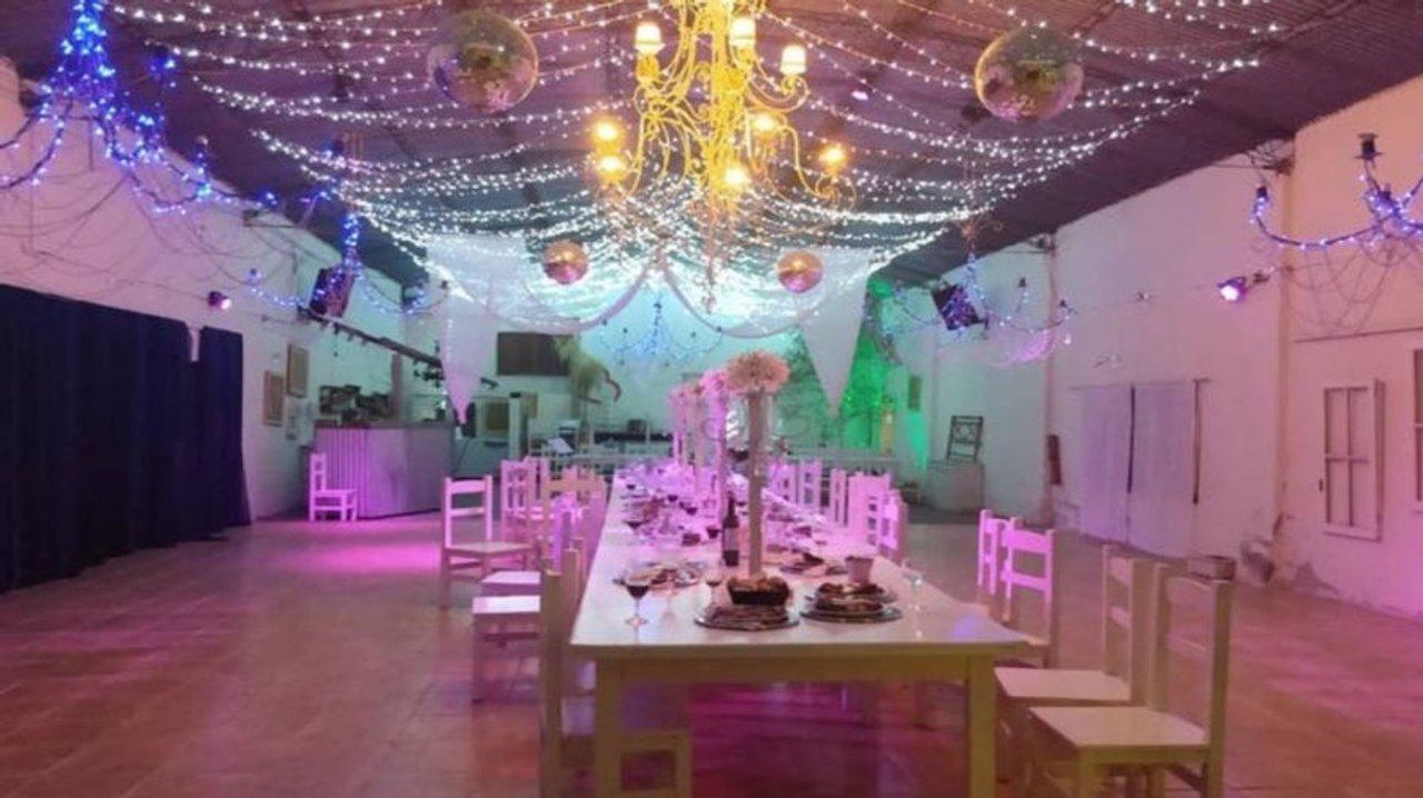 El salón donde se llevó a cabo la fiesta