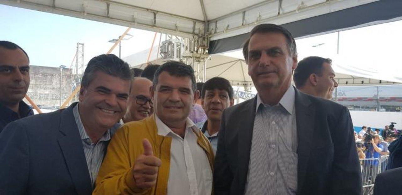 Alfredo Olmedo con Jair Bolsonaro
